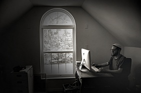 Shir Yaakov at home; photo by Nick Levitin